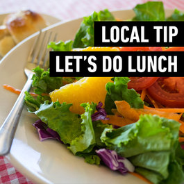 Local Tip. Let's do lunch.